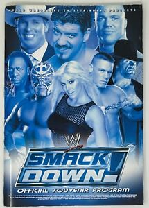Vintage! 2004 RAW & SMACK DOWN WWE Official Souvenir PROGRAM Wrestling John Cena