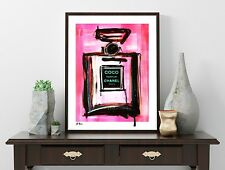 Chanel Pop Art - Kunst Modern Art - Paris - Vintage French - signiert - Giclée