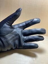Horse Riding Gloves Ladies sz Small Black Leather Palms Discontinued Thornhill