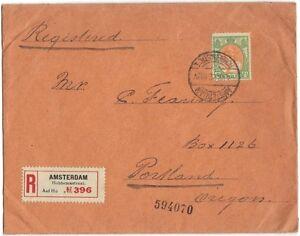 NETHERLANDS-US 1920 40¢ SCOTT #79 SINGLE TIE TO REG CVR