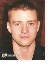 Justin Timberlake, Full Page Pinup