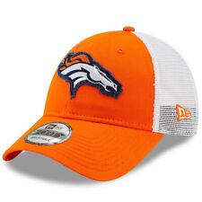 NEW ERA NFL Denver Broncos 9FORTY Trucker Mesh Back Orange Snapback Hat Cap