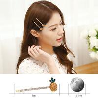 Chic Women Crystal Rhinestone Cute Pineapple Head Rope Hair Clip Claw Hairpin