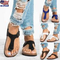 US Womens Cork Flip Flops Sandals Ladies Summer Slippers Slider Shoes Size 6-9