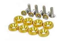 Aluminio anodizado Tornillos de Cabeza Avellanada ala Arandelas con PW JDM modificado de oro