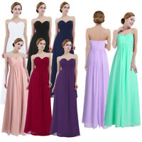 Women's Ladies Chiffon Wedding Formal Dress Bridesmaid Evening Party Prom Gown