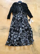 Studio 1 Size 12 Black Dress With Jacket