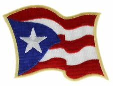 New listing Puerto Rico Wavy Flag Embroidered Patch Ivan2047 F2D19E
