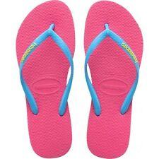 Sandali e scarpe slim infradito rosa per il mare da donna