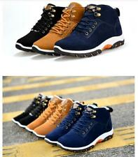 Men Warm Fur Outdoor Non-slip Sneakers Winter Suede High Top Snow Ankle Boots