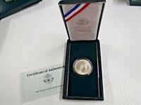 1990 United States Eisenhower Centennial Silver Dollar COA