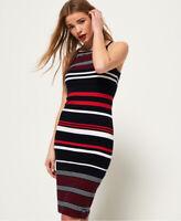 Superdry Womens Strappy Stripe Midi Dress