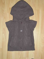 gilet marron à capuche KISS MELODY GIRL 4 ans