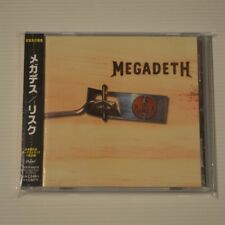 MEGADETH - RISK - 1999 JAPAN CD + STICKER SET