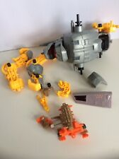 Random Parts Lot Tomy Robot? Pieces Gray And Yellow Vintage Transformers?