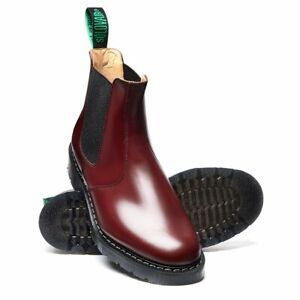Oxblood Hi-Shine Dealer Boot, EU 40 UK 7 By SOLOVAIR CLASSIC