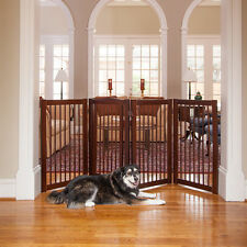 Gate Pet Free Standing Dog Wood Freestanding Wooden Fence Indoor Adjustable Wide