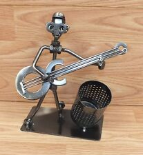 """Nuts & Bolts 7 1/2"""" Tall Metal Music Guitar Player Band Member Figure Only"""