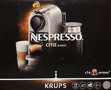 Krups XN761B.19 Nespresso Citiz & Milk Kaffeekapselmaschine, Silber - Neu & OVP
