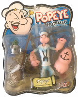 Mezco Popeye Series 2 White Sailor Outfit Popeye Action Figure NEW MOSC 2001 Man