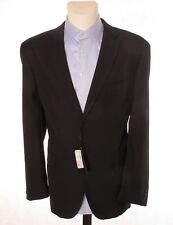 Jack Ashore Mens Black Pinstripe Suit Jacket Blazer Polyester EU 54 UK 44