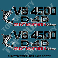 V8 4500 D-4D GREAT NORTHERN EDITION DECAL STICKER TO SUIT TOYOTA LANDCRUISER