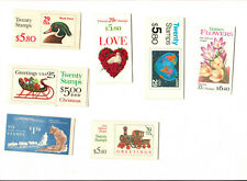 7 Booklets of Stamps Mint