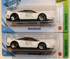 2020 HOT WHEELS KROGER EXCLUSIVES: WHITE '90 ACURA NSX. LOT OF 2.