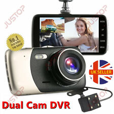 "HD 1080P Dual Lens Car Van Dash Cam DVR Recorder 4"" LCD With Rear Video Camera"