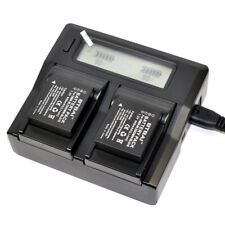 Quick LCD Charger +2x Battery For Panasonic DMW-BLG10e DMW-BLE9 DMW-BLE9E DE-A98