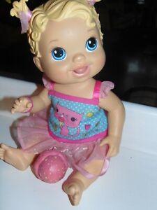 "BABY ALIVE HASBRO YUMMY TREATS BLONDE DOLL 15"" licks ice cream cone"