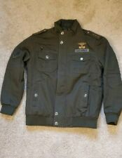 Mens Jacket Military Pilot Winter Bomber Coat US Army Work Outerwear-Large