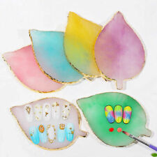1pc Nail Art Palette Color Resin Manicure Supplies Tray for Painting