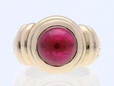 Juwelier Schmeide Ring 5,00 Karat Turmalin Rubelith 750 Gold 20,20 Gramm