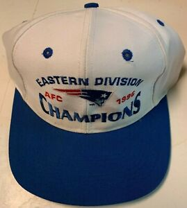 New England Patriots Logo 7 1996 Eastern Division Champions Snap Back Hat