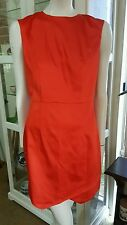 NWTS Catherine Leon dress.Sz10.Tangerine shine.Has stretch.Ret $430