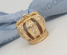 Authentic Pandora 14ct 14k Gold & Diamond Crown Charm 750453D G585