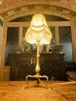 'Faraday & Sons' Brass Pullman Coach Table Lamp, Edwardian Antique
