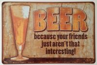 RETRO METAL WALL SIGN TIN VINTAGE FUNNY KITCHEN BEER GIFT BAR PUB LOUNGE LAGER