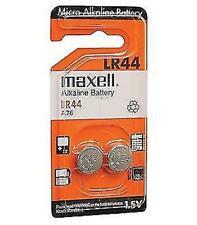 Pilas de boton Maxell bateria original Alcalina LR44 1,5V en blister 2X Unidades