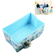 GN- LC_ FLOWER PRINT DESKTOP STORAGE FOLDABLE COSMETIC BOX MAKE UP BAG TIDY GIFT