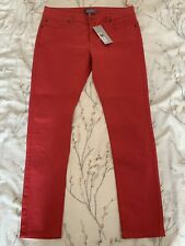 Marks And Spencer 14 Jeans Limited Edition Red Skinny Stretch Brand New With Tag