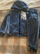 Nike Toddler Sweat Suit In Blue Size 4