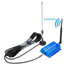 900Mhz Blue GSM Mobile phone Signal Booster Cellular Repeater Amplifier Antenna