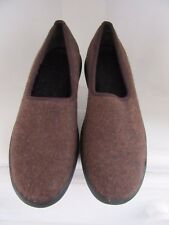 Rockport Wool Slip On Shoes Womens Size 6.5 Brown Soft Comfort Loafers Low Heel