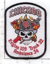 Illinois - Chicago Engine 109 Truck 32 Ambulance 34 IL Fire Dept Patch