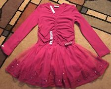 Naartjie Luxe Organza Skirted Tutu Tulle Dress, Sz 6, Cranberry Red EASTER, New