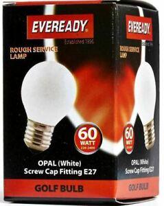 10 - 100 x 60w Edison Screw / ES Cap Golf Ball Light Bulb Rough Service Lamp E27