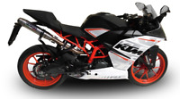 KTM RC390 2015/2016 EXHAUST STAINLESS DEEPTONE BY GPR EXHAUSTS ITALY