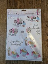Docraft Born To Shop Card Kit Die-cut Decoupage Paper Sheets NEW Girls
